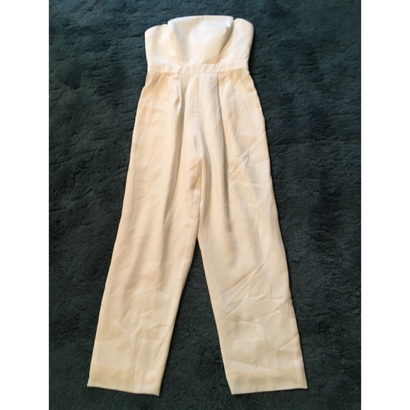 94769231ec0 Jill by Jill Stuart white strapless pant suit! NWT